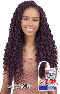 "Freetress 2X Soft Curly Faux Loc 18"", Synthetic Braids"