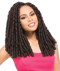"Drop Curl (Loop) 14"", Synthetic Hair Braids"