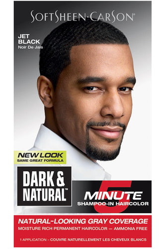 Dark and Natural 5min Mens Hair Color #Jet Black