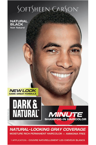 Dark and Natural 5min Mens Hair Color # Natural Black