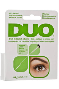 DUO Brush On Striplash Adhesive [White/Clear] 0.18oz