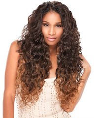 Kanubia Easy 5 Natural Curly Wvg Invisible Part, Synthetic Hair Extensions