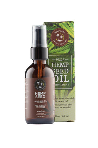 Earthly Body Hemp Seed Oil with Vitamin E 2oz