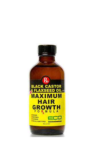 Eco Maximum Hair Growth Oil Black Castor & Flaxseed Oil 2oz