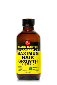 Eco Maximum Hair Growth Oil Black Castor & Flaxseed Oil 4oz