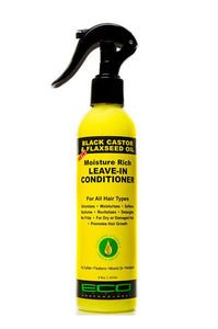 Eco Leave In Conditoner Black Castor & Flaxseed Oil 8oz