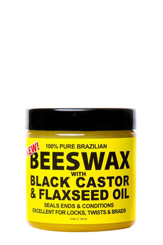 Eco Bees Wax Black Castor & Flaxseed Oil 4oz