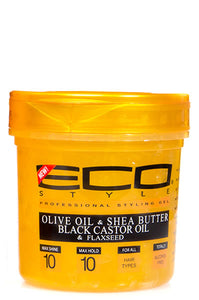 Eco Styling Gel Gold [Olive Oil & Shea Butter Black Castor Oil & Flaxseed] 16oz