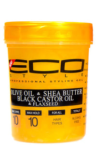 Eco Styling Gel Gold [Olive Oil & Shea Butter Black Castor Oil & Flaxseed] 32oz
