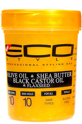 Eco Styling Gel Gold [Olive Oil & Shea Butter Black Castor Oil & Flaxseed] 5lbs