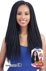 Freetress Four Strand Senegalese Twist,  Synthetic Braids