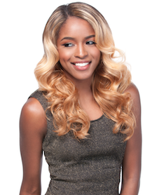 Front Lace Wig Edge 2-Way L-Part Helena, Synthetic Hair Wig