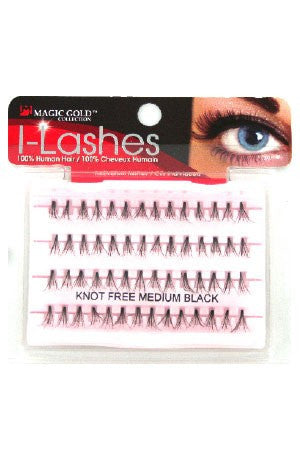 I-Lashes 100% Human Hair Eyelashes #132 Flare Medium Black