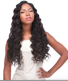 "Peruvian Loose Deep 6 pieces, Natural Hair (Bundle 2*18"", 2*20"", 2*22"")"