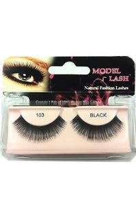 Model Lash Natural Remy Hair Fashion Lashes Black #103
