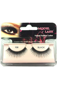 Model Lash Natural Remy Hair Fashion Lashes Black #108
