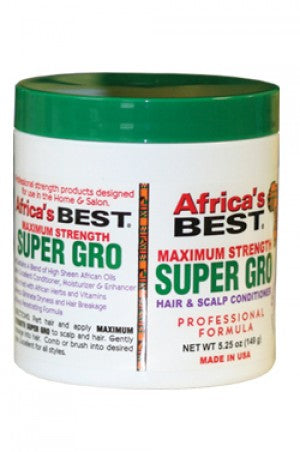 Africa's Best Maximum Strength Super Growth Scalp & Hair Conditioner 5.25oz