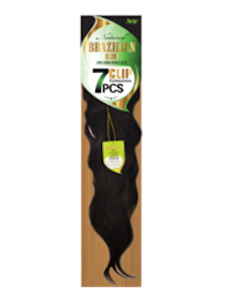 "Natural Brazilian Remi Clip in 7 Pieces 22"", Remi Human Hair"