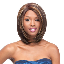 "Lace Front Wig Natural Yaki 12"", Synthetic Wig"