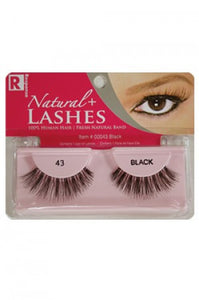 Response 100% Human Hair Eyelashes  #43 Black