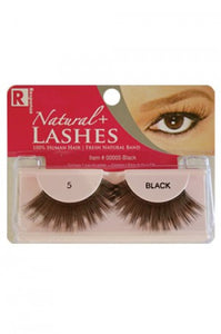 Response 100% Human Hair Eyelashes  #5 Black