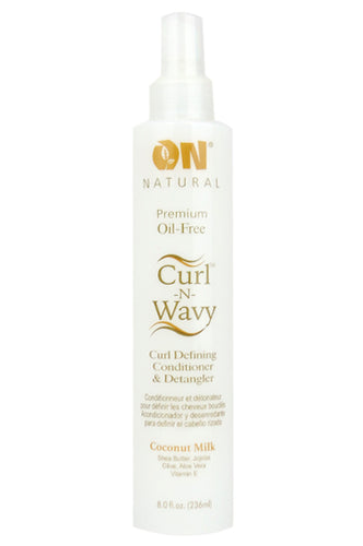 Organic Natural Curl&Wavy Coconut Milk Conditioner & Detangler 8oz