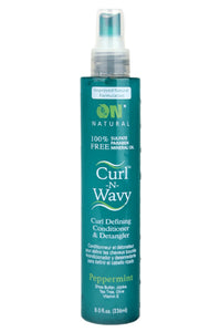 Organic Natural Curl & Wavy Peppermint Conditioner & Detangler 8oz