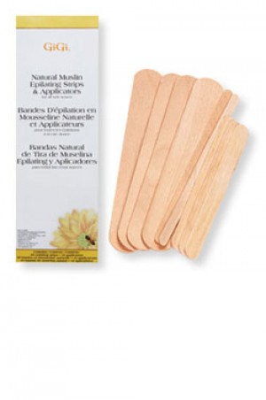 GiGi Natural Muslin Epilating Strips & Applicators Combo
