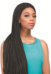 Senegal Box Braids Wig, Synthetic Wig