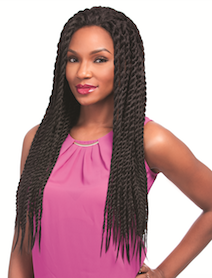 Senegal Chic Twist Braids Wig, Synthetic Wig
