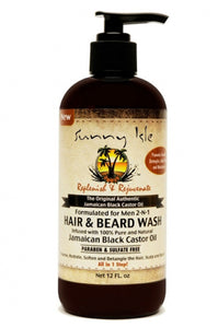 Sunny Isle Jamaican Black Castor Oil 2 In 1 Hair & Beard Wash for Men