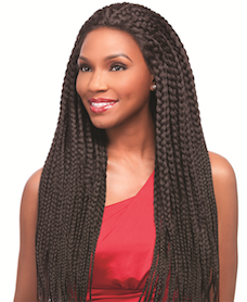 Senegal Maxi Braids Wig, Synthetic Wig