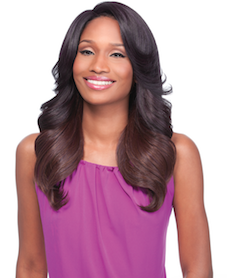 Front Lace Wig Edge 2-Way C-Part Shasha, Synthetic Hair Wig