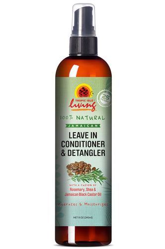 Tropic Isle Living Black Castor Oil Leave In Conditioner & Detangler 8oz
