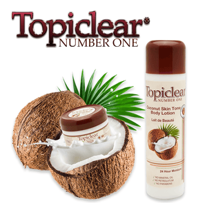 Topiclear Number One Coconut Skin Tone Body Lotion 16.8 oz / 500ml
