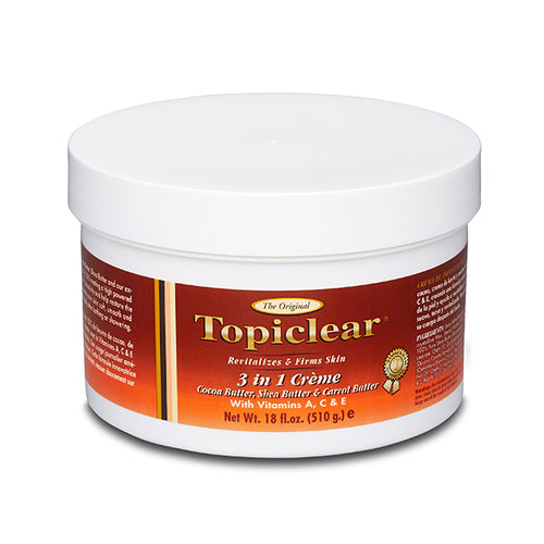 Topiclear 3 in 1 Creme Cocoa Butter, Shea Butter, Carrot Butter 8oz