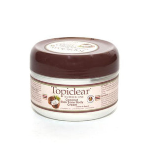 Topiclear Number One Coconut Skin Tone Body Cream 170g / 6oz