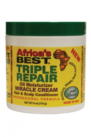 Africa's Best Triple Repair Miracle Cream  Scalp & Hair Conditioner 6oz