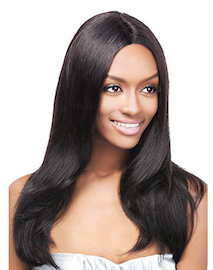 Simply Lace Front Wig Brazilian Natural Straight, 100% Remi Hair Wig
