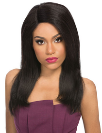 "Velvet Lace Wig Natural Yaki 18"", 100% Remi Human Hair"