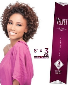 Velvet Remi Retro Curl(3 Pcs Short Series), Remi Hair Extensions