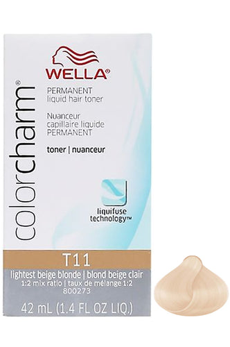 Wella Color Charm Liquid Toner #T11 Lightest Beige Blonde