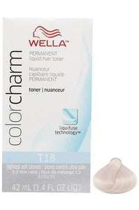 Wella Color Charm Liquid Toner #T18 Lightest Ash Blonde