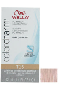 Wella Color Charm Liquid Toner #T15 Pale Beige Blonde