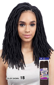 "Freetress 2X Soft Wavy Faux Loc 12"", Synthetic Braids"
