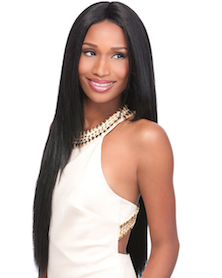 Custom Lace Wig Yaki 24, Synthetic Hair Wig