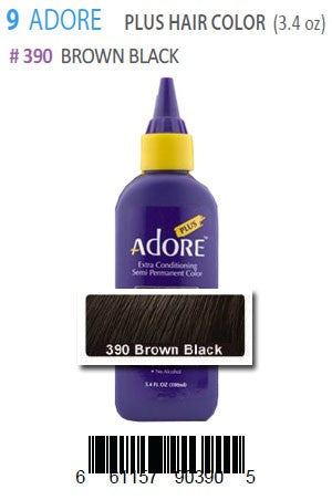 Adore Plus Hair Color #390 Brown Black