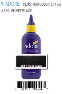 Adore Plus Hair Color #394 Velvet Black