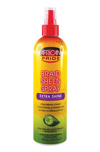African Pride Braid Spray  Extra Shine 12oz