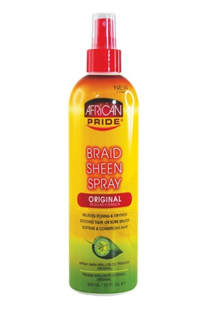 African Pride Braid Sheen Spray - Original Regular 12oz